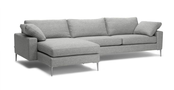Nova Winter Gray Left Sectional Sofa