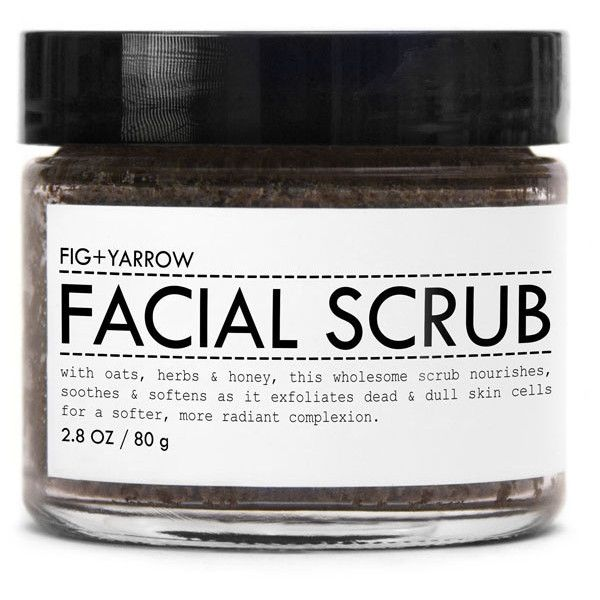 Facial Scrub design by Fig and Yarrow ($22) ❤ liked on Polyvore featuring beauty products, skincare, face care, face cleansers, fillers, beauty, makeup, exfoliating face wash, exfoliating facial cleanser and dry skin face wash