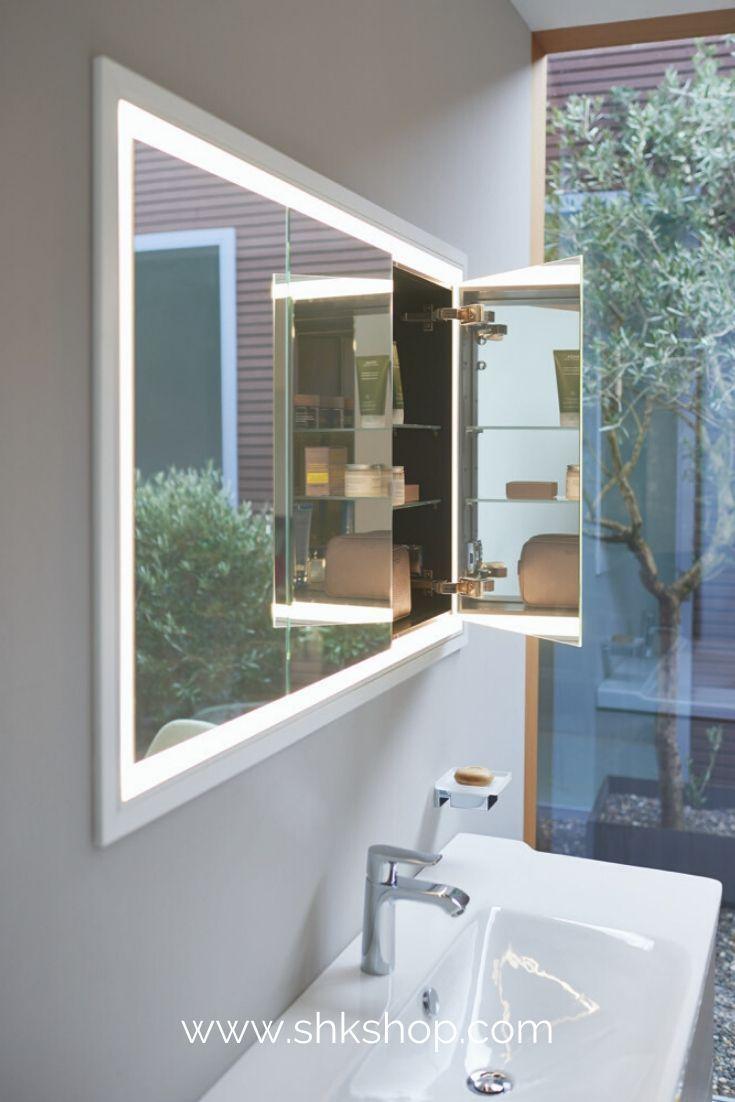 Duravit L Cube Spiegelschrank Mit Led Beleuchtung Breite 1200mm Wandeinbau In 2020 Spiegelschrank Duravit Badezimmer Dekor