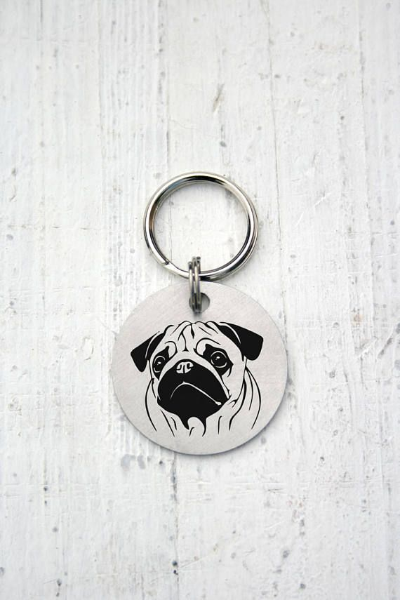 Pug, Dog Tag, Customized Pet ID Tag Name Tags, custom two-sides tag, dog tag, id tag for dogs, id tag for cat, dog lover gift, Customized Pet ID Tag, dog collar, id tag design, id tag diy, keep calm and call my mom, have your people call my people, call my mom before she freaks out, if you can read this i will lick you