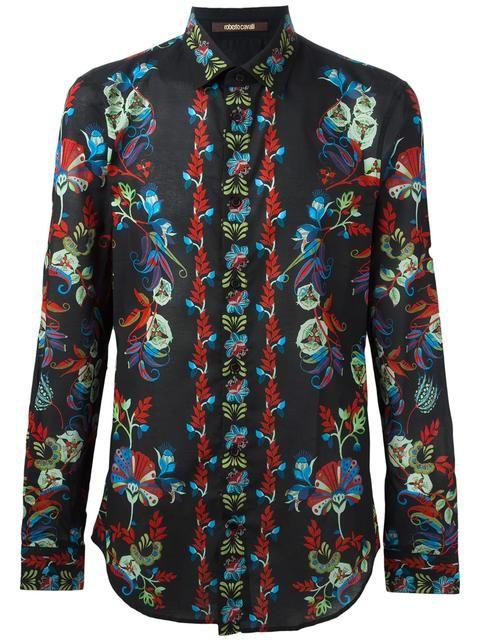 ROBERTO CAVALLI Hemd Mit Floralem Print. #robertocavalli #cloth #print