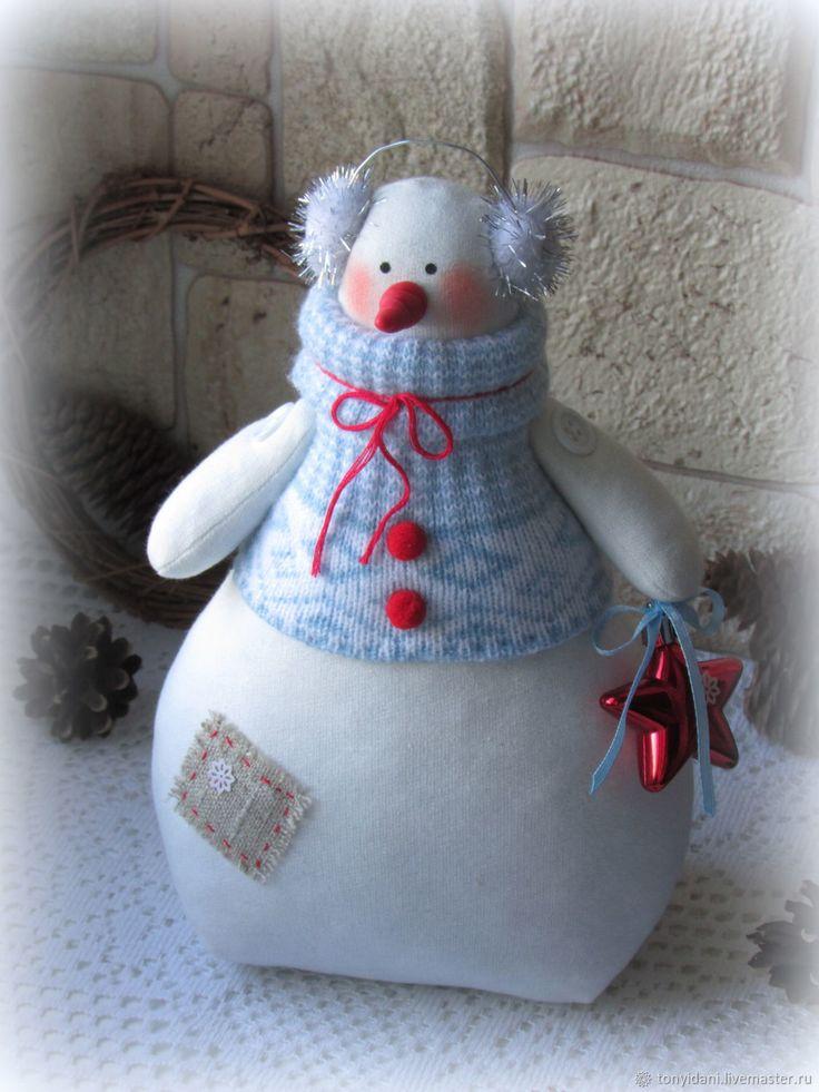 Купить Снеговик в стиле Тильда - 1 в интернет магазине на Ярмарке Мастеров