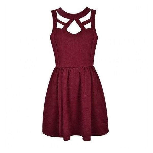 CUT OUT SKATER DRESS Ally Fashion ❤ liked on Polyvore featuring dresses, skater dress, cut-out skater dresses, purple dress, cutout dresses and cut out skater dress