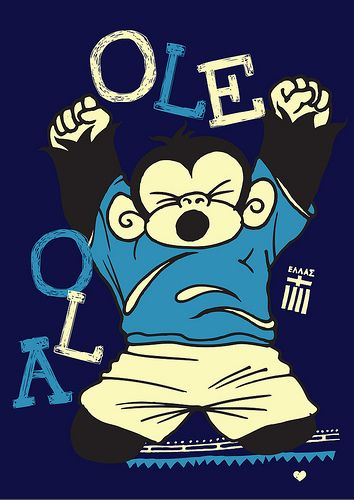 Ole Ola! Ziko by @tzanos at www.yeboland.com #goal #fifaworldcup #greece #design
