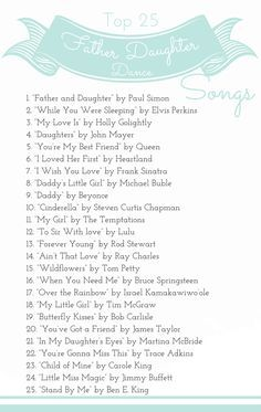Best Father - Daughter Dance Songs