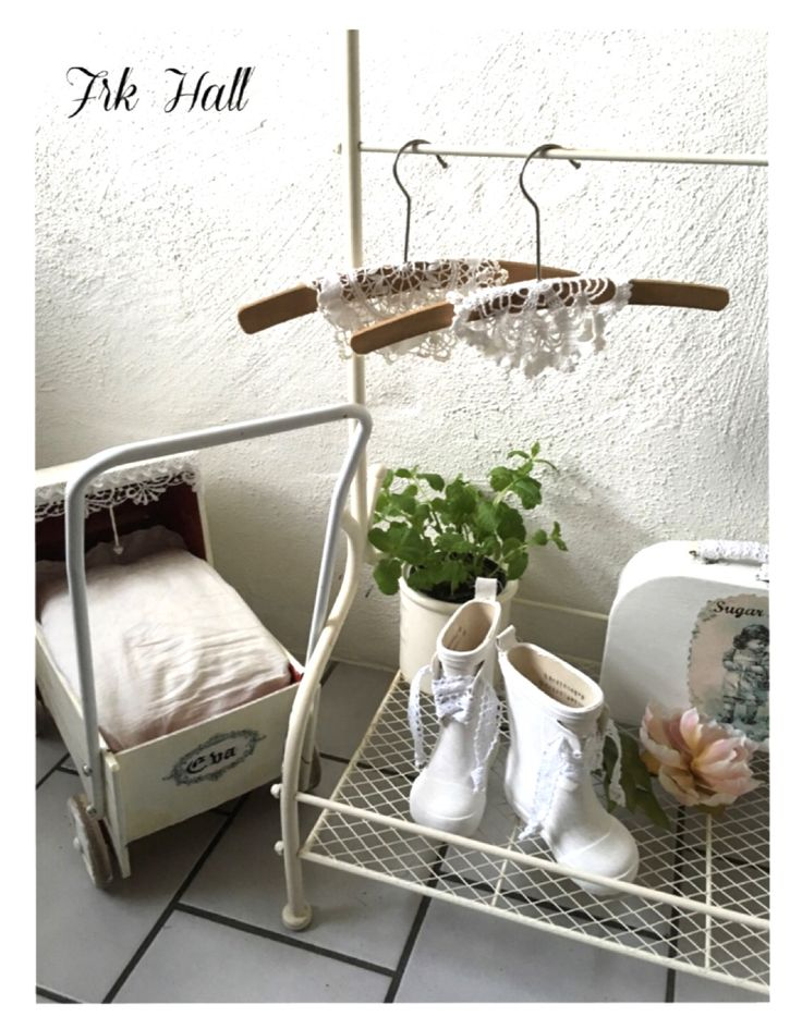 A little beautiful white romantic shabby chic child clothes rail, for my lovely granddaughter