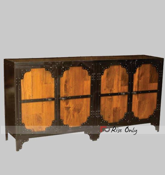 used industrial furniture. industrial metal living room sideboard by riseonlycom dimensions 180x45x90 cbm 0763 colour light wood finish material used iron and wooden furniture e