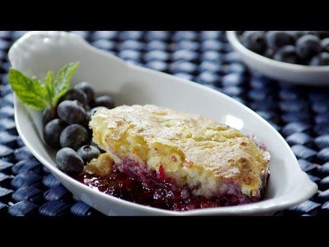 Cobbler de mirtilo (blueberry)