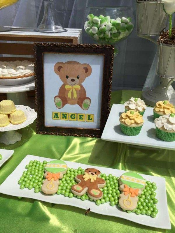 Sweet Teddy Bears Baby Shower Framed Art