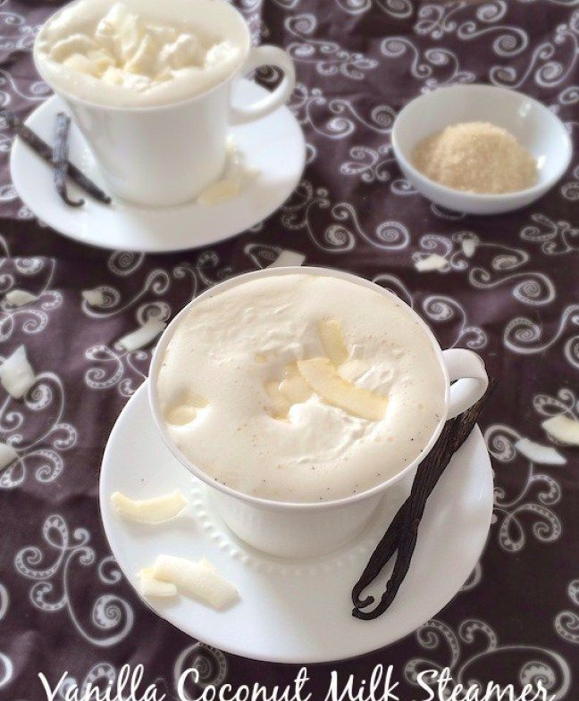Make this coffee house drink at home with coconut milk! Vanilla Coconut Milk Steamer recipe at Teaspoonofspice.com #milk #steamer #coconutmilk #beverages