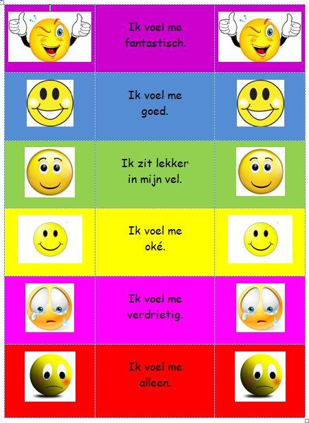 Emotieladder: zet de namen van de kinderen op een knijper en hun ...