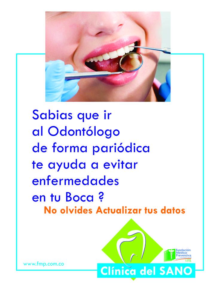 Sabias que ir al Odontología . . .