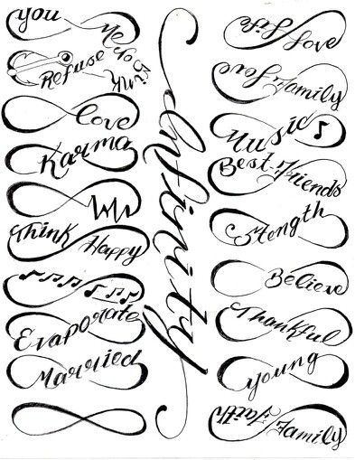 Infinity tattoos!                                                                                                                                                                                 More