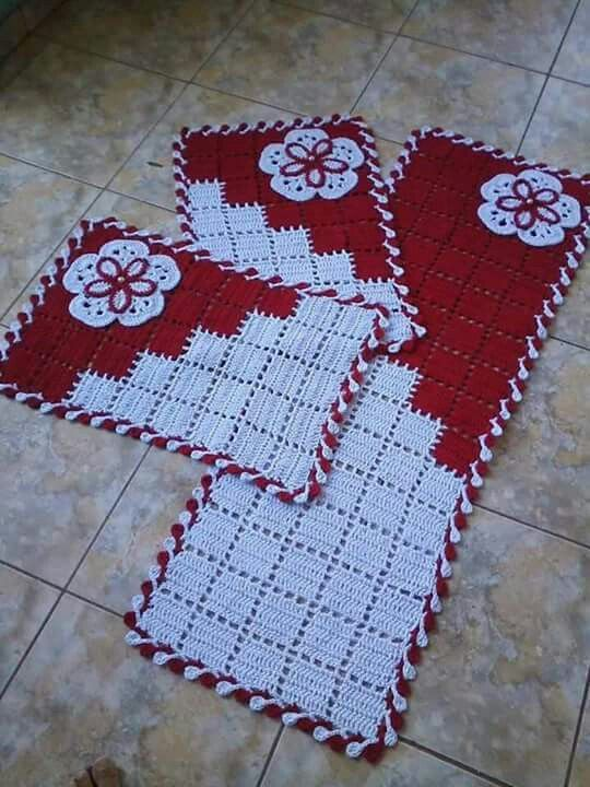 Armario Retro Cozinha ~ 55 melhores imagens sobre jogo de banheiro de croche no Pinterest Decoraç u00e3o de banheiro, Beb u00ea
