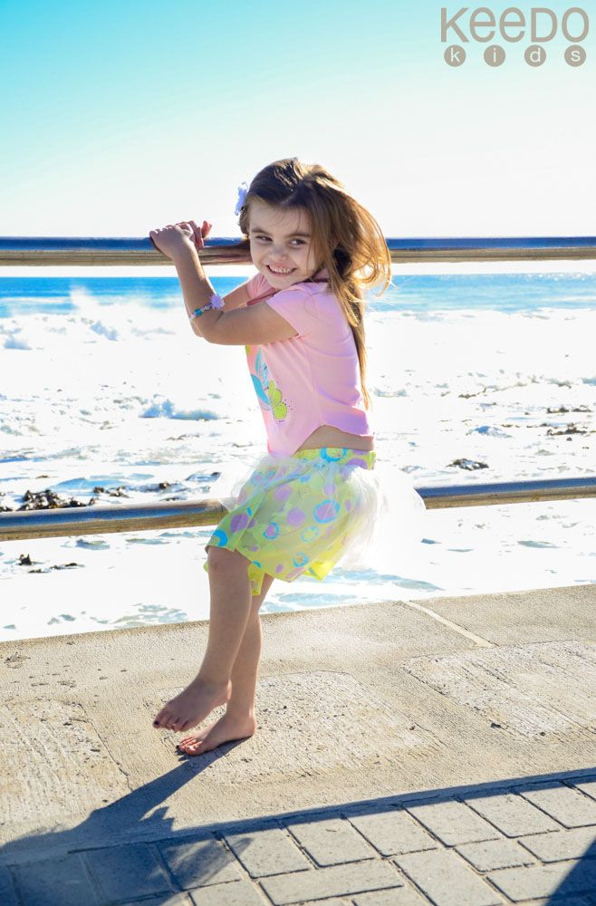 Dane is having lots of fun in Cape Town in her Lolly skirt set.