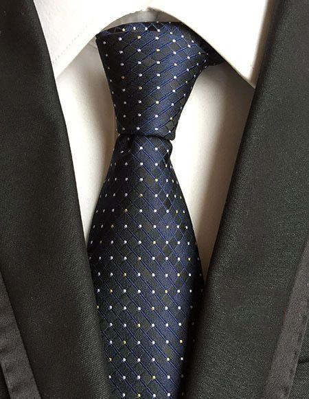 Necktie 8cm Blue Silk Ties Gravata Borboleta Masculina Navy Tie White Polka Dot #Unbranded #Tie