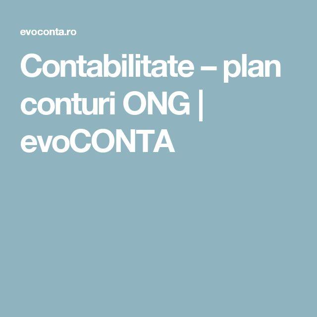 Contabilitate – plan conturi ONG | evoCONTA