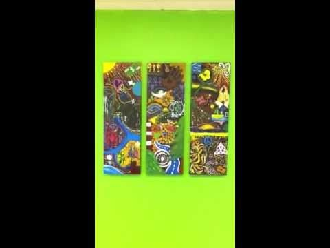 DoodleJam Corporate Team Building Canvas - vibrant group paintings using doodles #DoodleJam - www.doodlejam.com