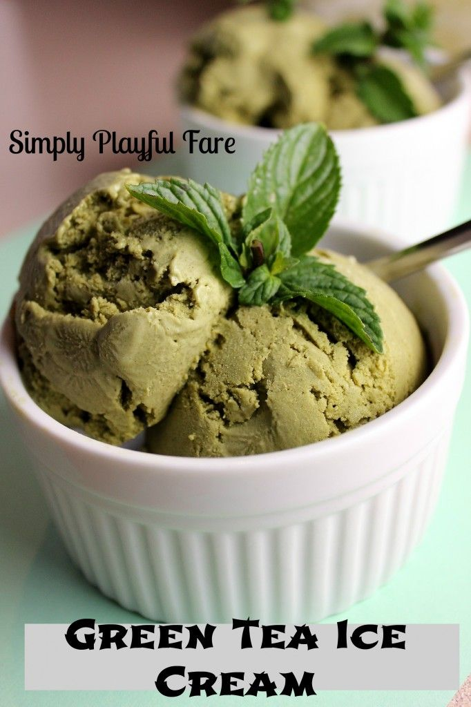 Green Tea Ice Cream | Green teas, Ice and Cream