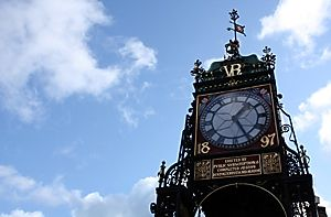 This is the clock on the bridge in Chester by Mandy Jones from thephotographerblog.com