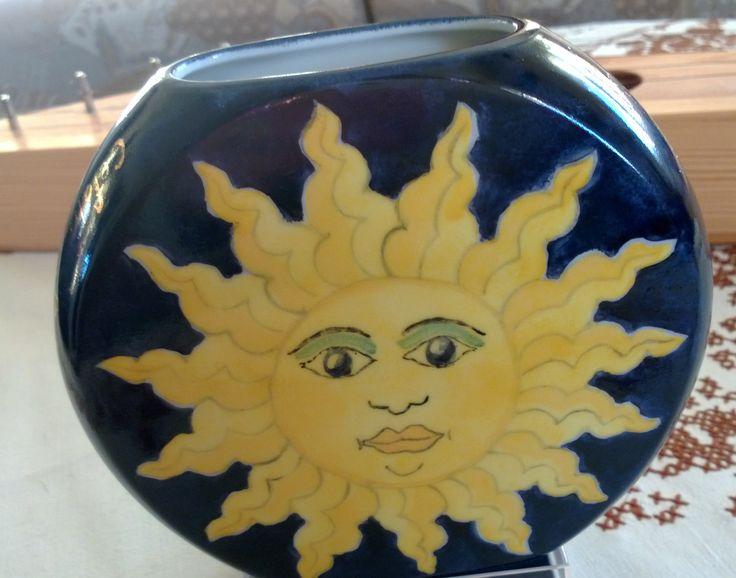 Porcelain painting ; Sicily sicilian style sun