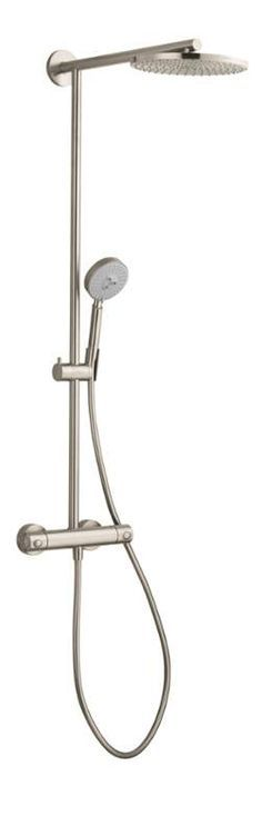 """Hansgrohe 27160 Raindance Showerpipe Shower System with 10"""" Rain Shower Head Mu Brushed Nickel Faucet Shower System Double Handle"""