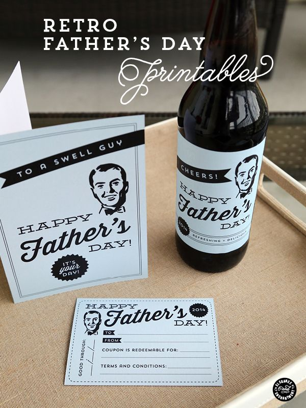 Father's Day Printables – Cards, Labels and a Printable Coupon