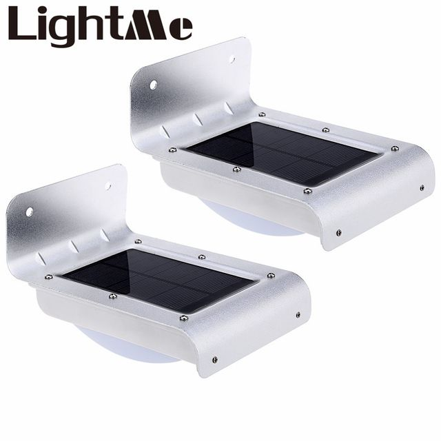 unids premium luz solar led luz ahorro de energa de luz de la pared del