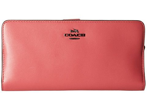 COACH - madison leather skinny wallet in DK Rouge $150