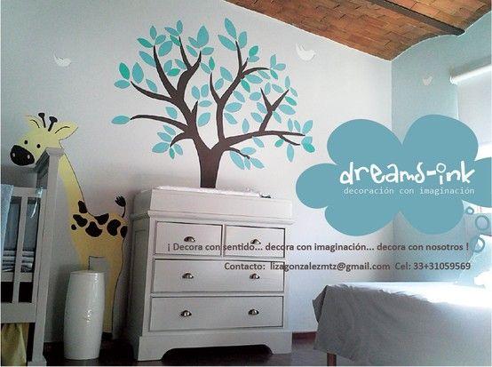 Uno de nuestros ultimos proyectos #murales #decoracioninfantil #walldecals totalmente pintado a mano