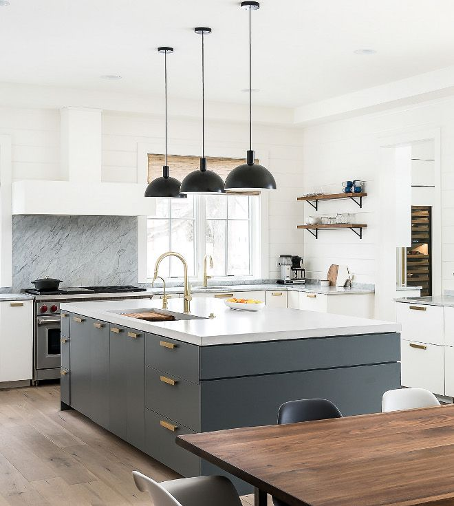Farrow And Ball Downpipe Grey Kitchen Island Paint Color Is Farrow And Ball Downpipe Kitchen Island Dimensions Grey Kitchen Island Kitchen Interior