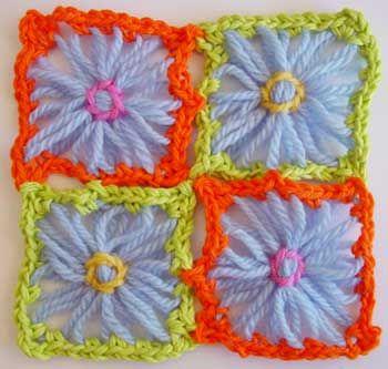 Flower Looms: Making 8 Spoke Square Motifs on a Round Loom