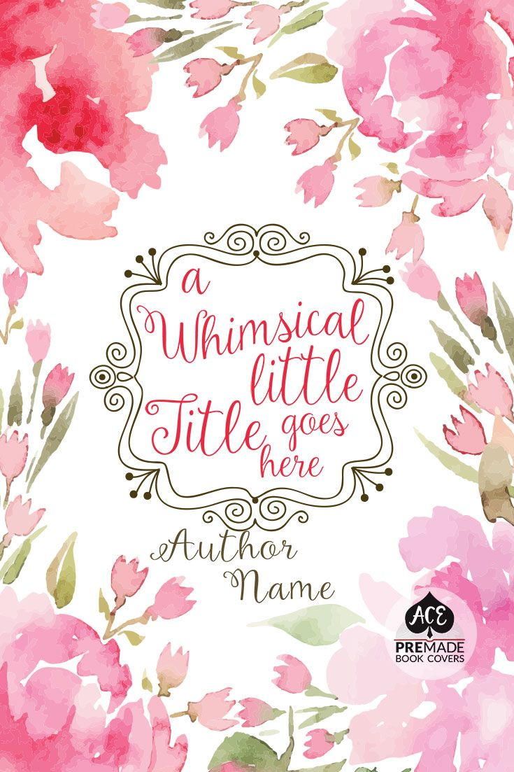 Watercolor book covers - Premade Ebook Cover Design Fiction Nonfiction Watercolor Floral Border Whimsical Poetry Romance Anthology Chick Lit
