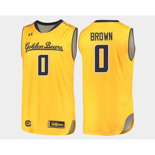 info for 59237 4678d California Golden Bears #0 Jaylen Brown Gold Alternate ...