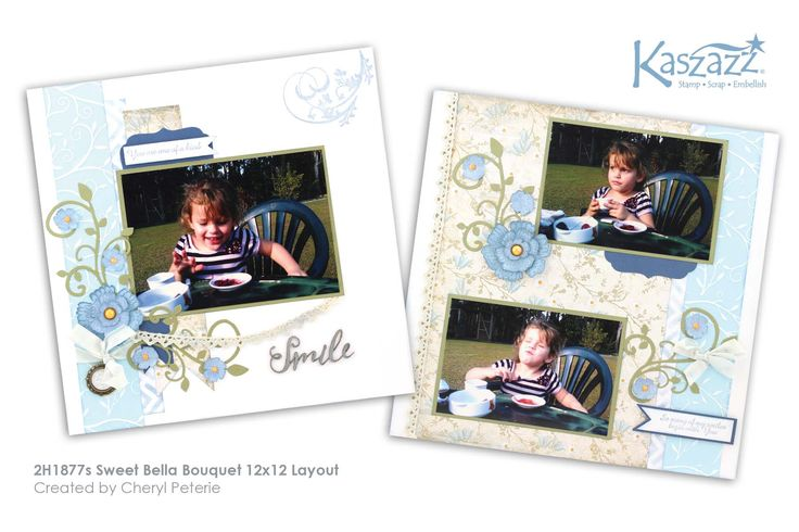 This project will show you how to create a lovely double page scrapbook layout using Texture Paste, the Ezy-Press and stamps to create your own embellishments.