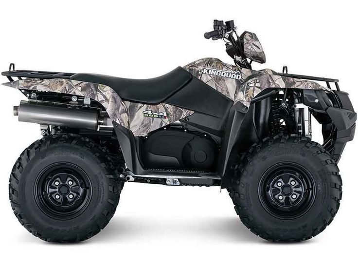New 2016 Suzuki KingQuad 500AXi Power Steering Camo ATVs For Sale in Florida. 2016 Suzuki KingQuad 500AXi Power Steering Camo, CLEARWATER & TAMPA BAY'S ULTIMATE POWERSPORTS EXPERIENCE! 2016 Suzuki KingQuad 500AXi Power Steering Camo Trusted. Rugged. Reliable. The rugged and reliable KingQuad 500AXi Power Steering Camo receives a few new changes that provides smoother acceleration, quicker throttle response, and a stronger feel in the mid-high RPM range. The front end of the quad gets a newer…