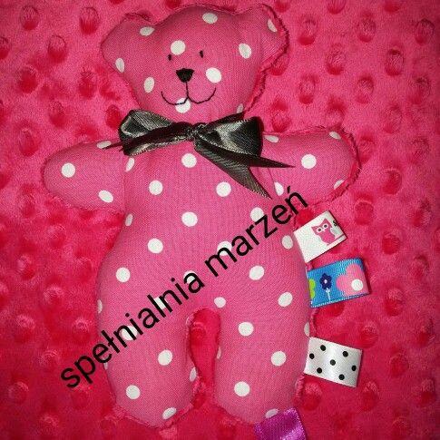 AlMiś grzechotka www.spelnialniamarzen.com.pl #almiś #teddybear #pink #forchildren #baby #gift #spelnialniamarzen