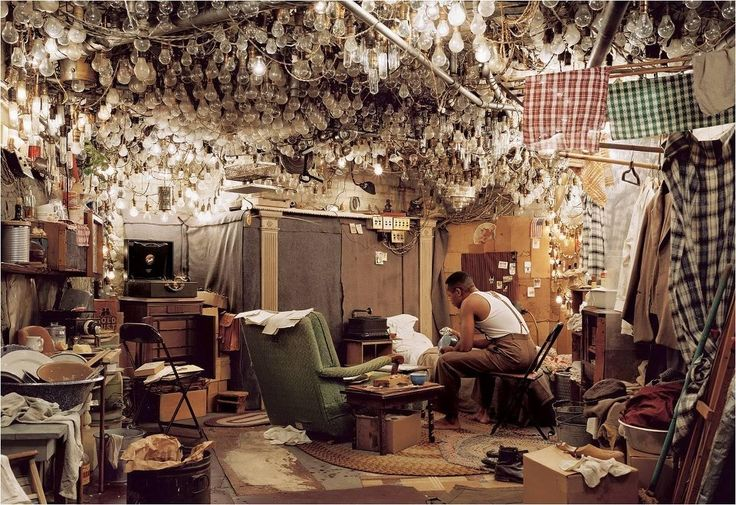 "photo by jeff wall.99-2001 - after ""invisible man"" by ellison preface"