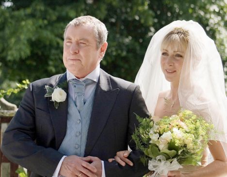 "Midsomer Murders - Cully's wedding to Simon Dixon in episode ""Blood Wedding"" near end of old cast's tenure."