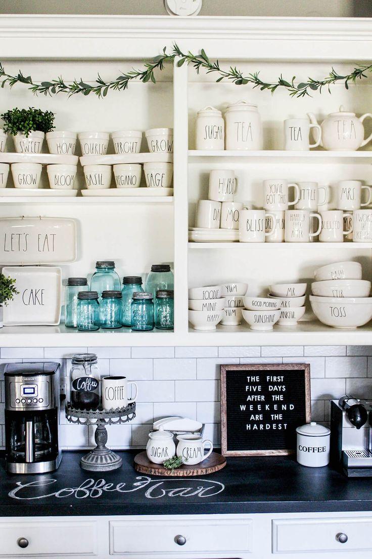 28 Stilvolle Ideen für die Kaffeebar, von denen jeder Kaffeeliebhaber träumt    – Diy Dekoration