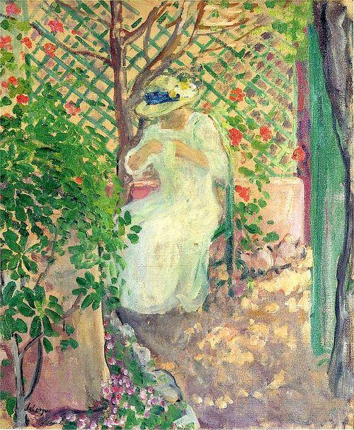 *Marthe Lebasque in the Garden; Henri Lebasque*
