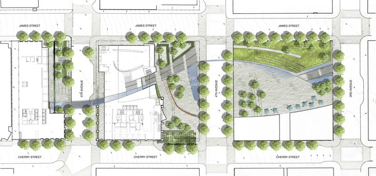 Seattle Civic Center Master Plan Landscape Pinterest