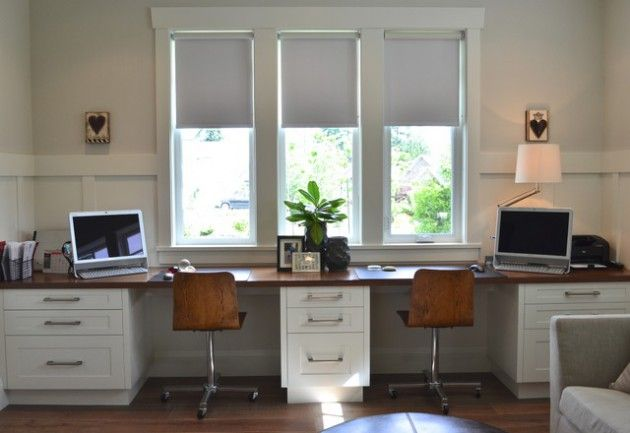 18 Functional Ideas To Decorate Home Office For Two                                                                                                                                                                                 More