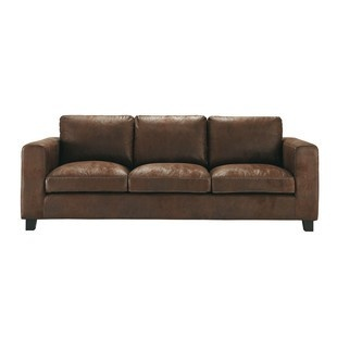 Sofa Sleeper  seater imitation suede sofa bed in brown Kennedy