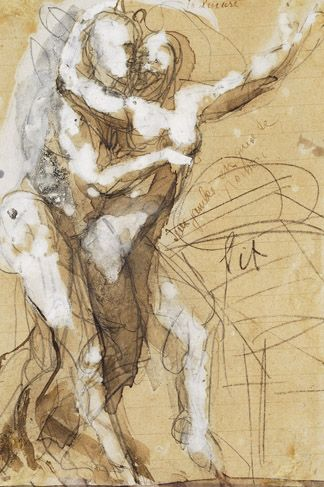 Rodin has the best sketch work, love the simplicity and how the forms interact with each other, true passion.