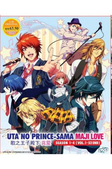 UTA NO PRINCE SAMA Maji Love 1000% 2000% Revolutions Season 1-4 Anime DVD