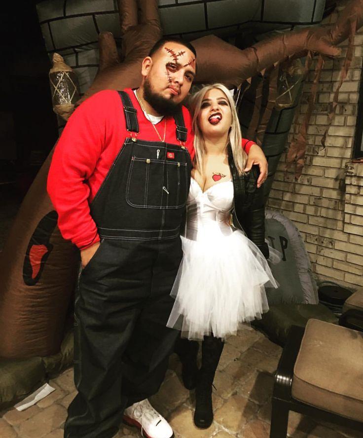 Couples Halloween costume chuckys bride