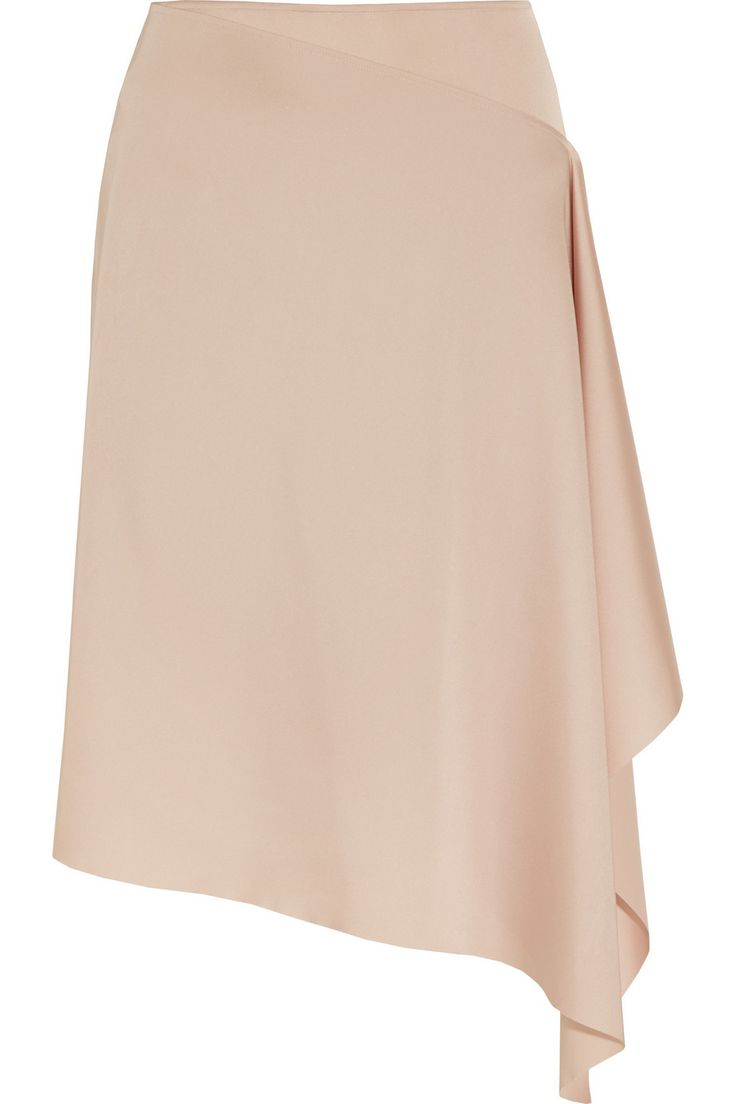 Cédric Charlier|Asymmetric satin skirt|NET-A-PORTER.COM
