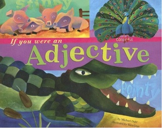 'If you were an adjective' picture book with colorful examples of adjectives with an animal theme #grammar #ela
