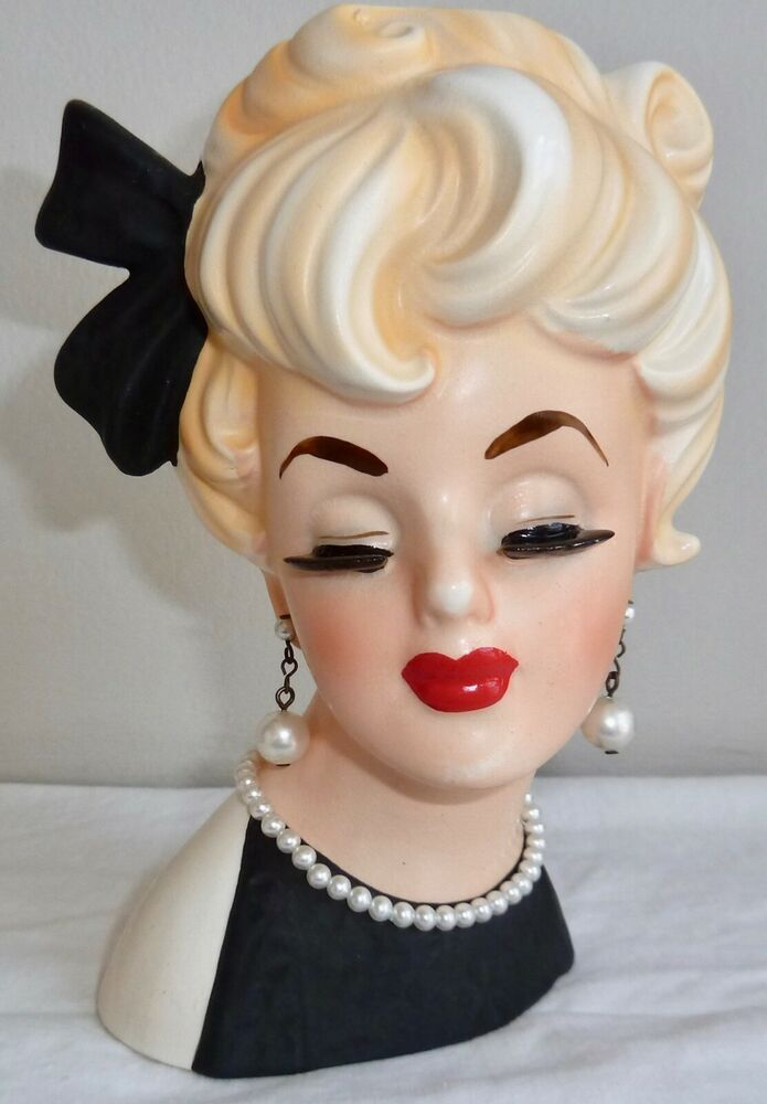 Pin By Sharon Cumings On Head Vases Head Vase Face Vase Ceramic Lady Heads